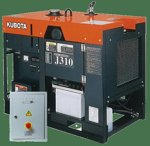 Дизельный генератор KUBOTA j310 с АВР