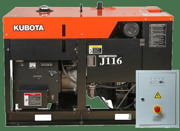 Дизельный генератор KUBOTA J116 с АВР
