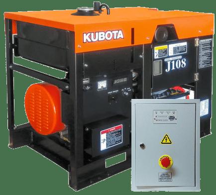 Дизельный генератор KUBOTA J108 с АВР
