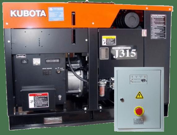 Дизельный генератор KUBOTA J315 с АВР