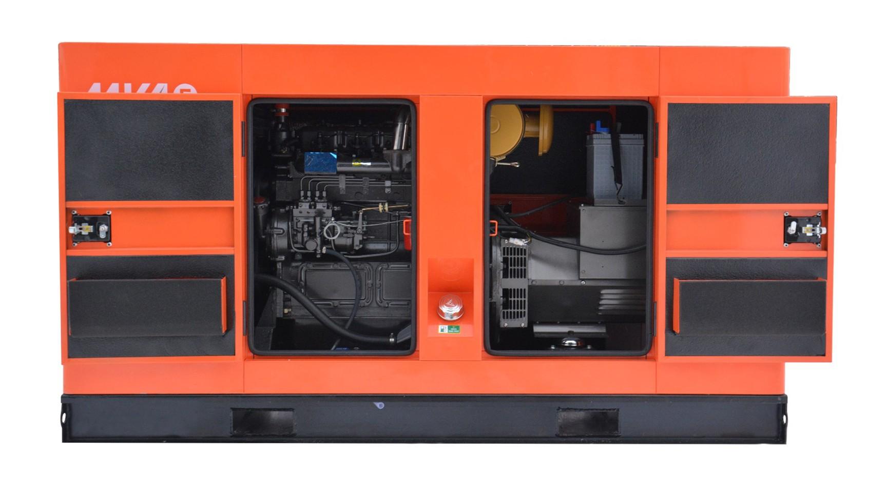Дизельный генератор MVAE АД-25-400-РК в кожухе с АВР
