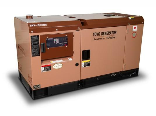Дизельный генератор TOYO TKV-20TBS
