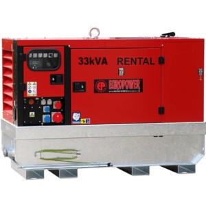 Дизельный генератор EUROPOWER EPSR 34 TDE в кожухе с АВР