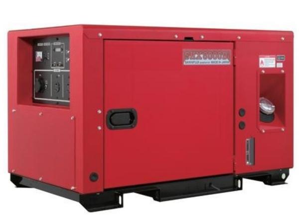 Дизельный генератор ELEMAX SHX8000Di-R в кожухе