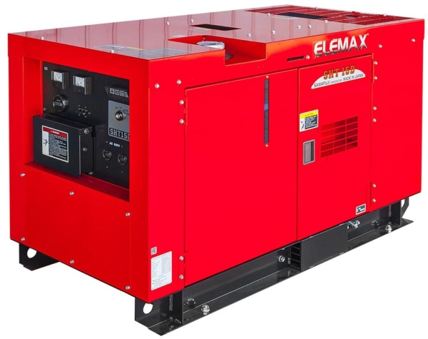 Дизельный генератор ELEMAX SHT15D-R в кожухе