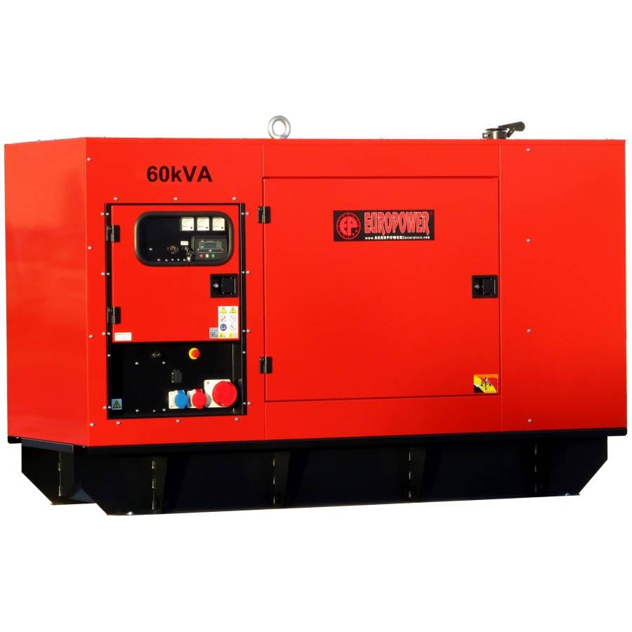 Дизельный генератор EUROPOWER EPS 60 TDE в кожухе с АВР