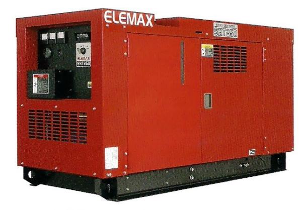 Дизельный генератор ELEMAX SHT25D-R в кожухе