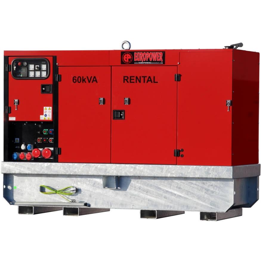 Дизельный генератор EUROPOWER EPSR 60 TDE в кожухе с АВР