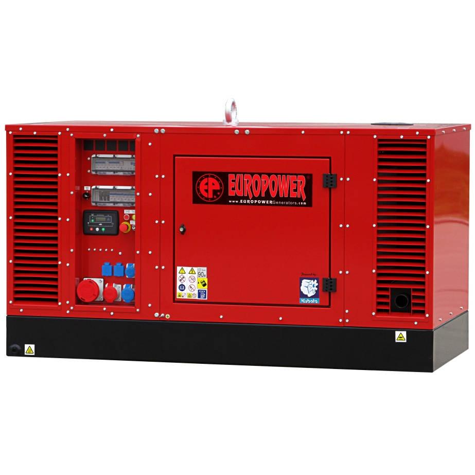 Дизельный генератор EUROPOWER EPS 30 DE в кожухе с АВР