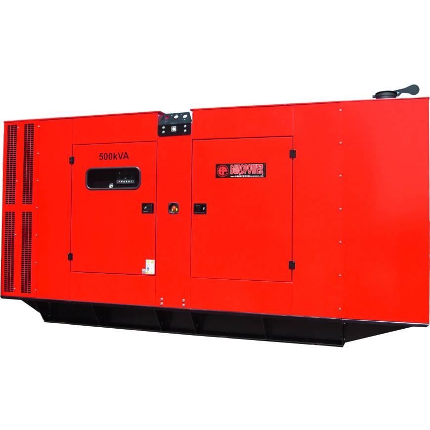 Дизельный генератор EUROPOWER EPS 500 TDE в кожухе с АВР