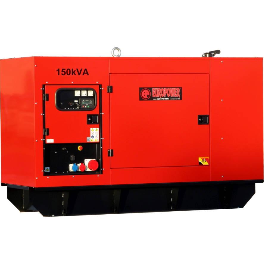 Дизельный генератор EUROPOWER EPS 150 TDE в кожухе с АВР
