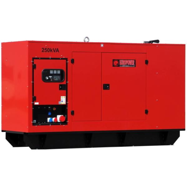 Дизельный генератор EUROPOWER EPS 250 TDE в кожухе с АВР