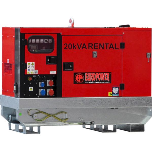 Дизельный генератор EUROPOWER EPSR 20 TDE в кожухе