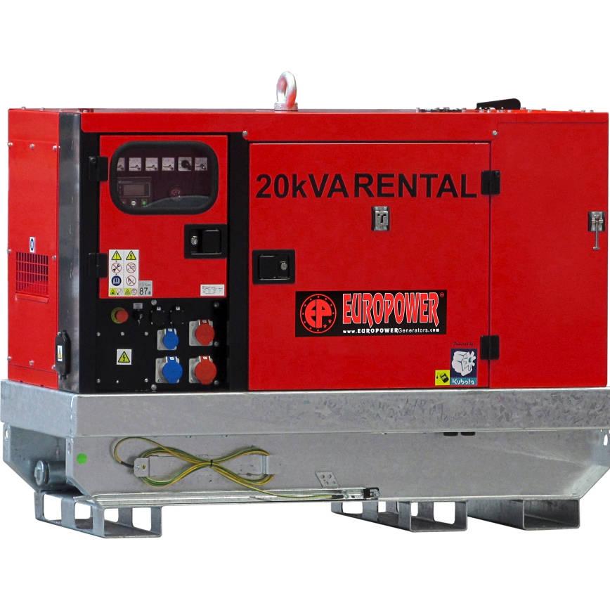 Дизельный генератор EUROPOWER EPSR 20 TDE в кожухе с АВР