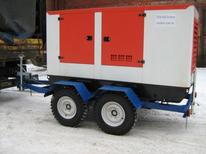 Дизельный генератор АЗИМУТ АД-80-Т400-2РКМ11 на шасси с АВР
