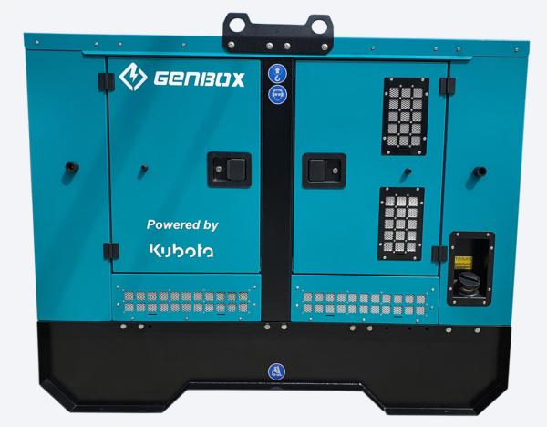 Дизельный генератор GENBOX KBT32T-S в кожухе с АВР