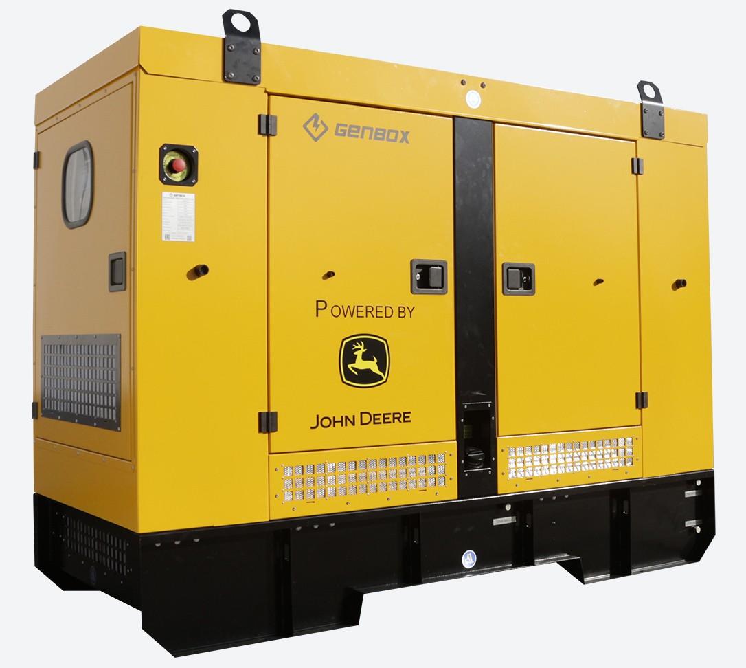 Дизельный генератор GENBOX JD120-S в кожухе с АВР