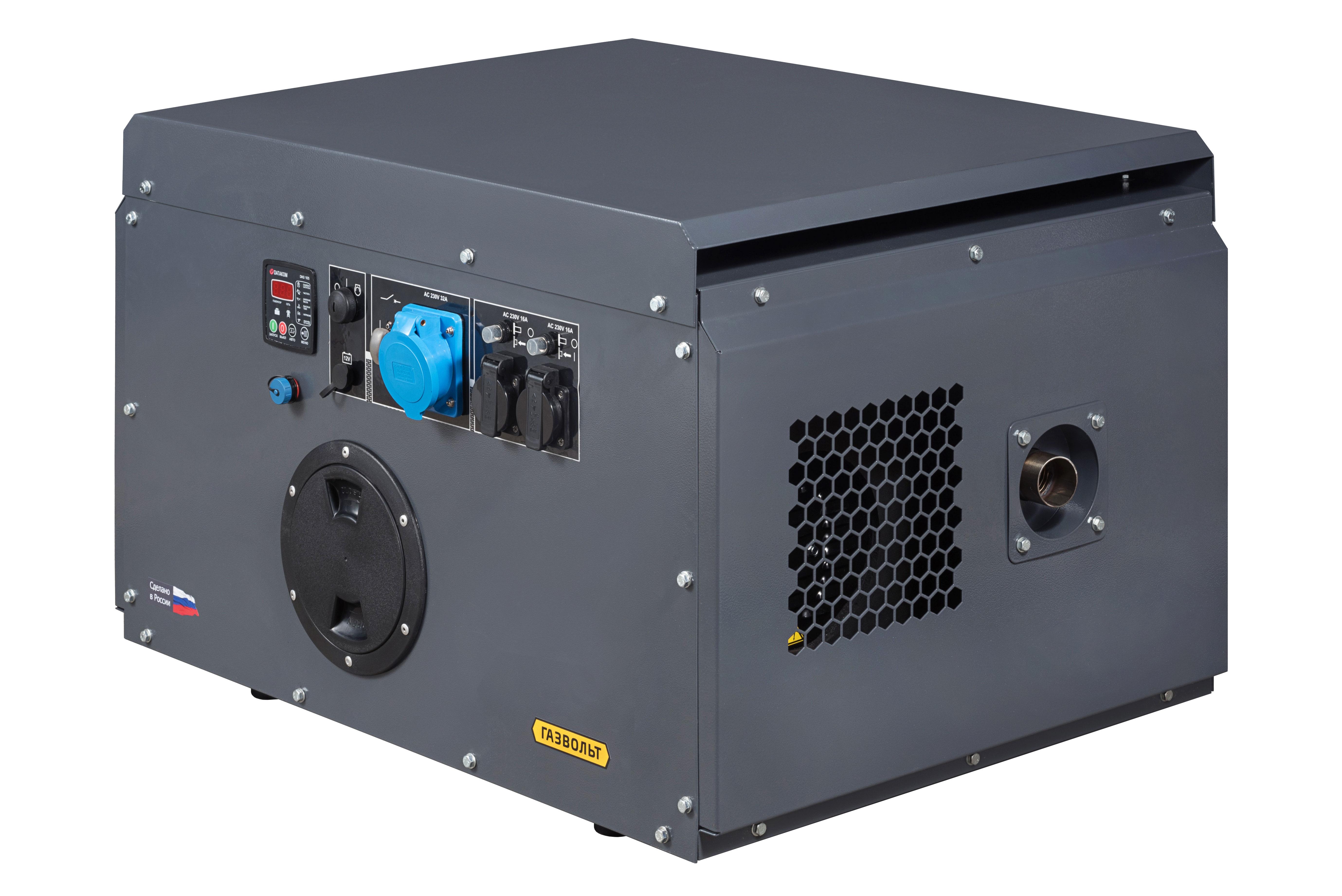 Газовый генератор Gazvolt Pro 6250 Neva 08 в кожухе с АВР