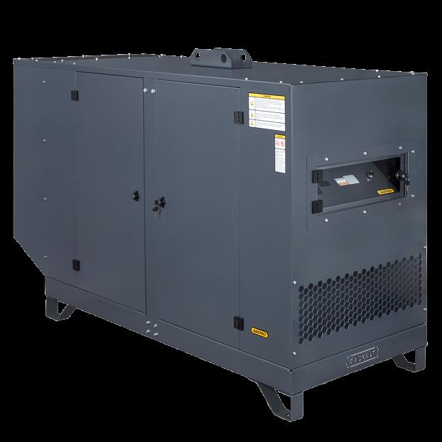 Газовый генератор Gazvolt 50T32 в кожухе с АВР