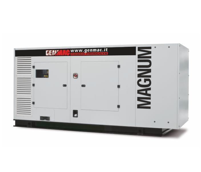 Дизельный генератор GENMAC G400PS в кожухе с АВР