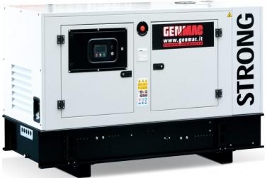 Дизельный генератор GENMAC G40IS в кожухе с АВР