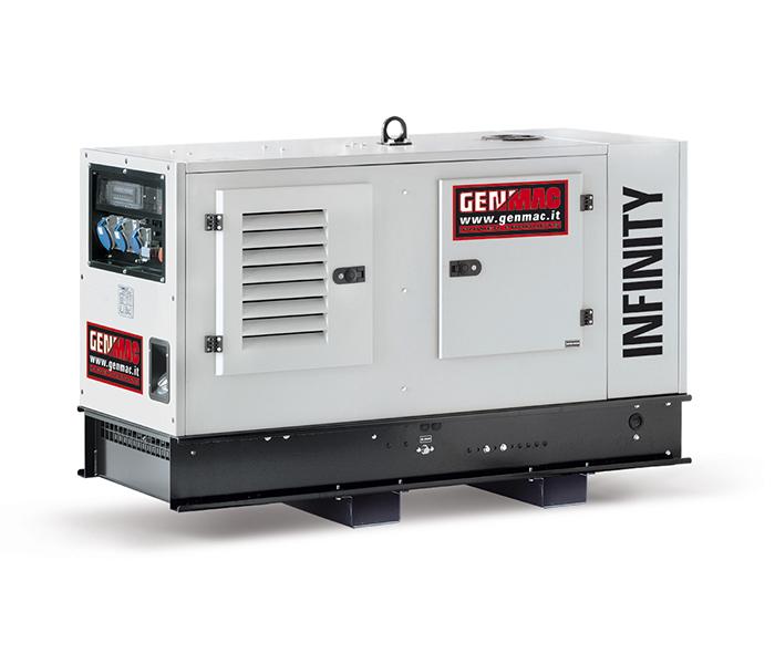 Дизельный генератор GENMAC Infinity RG20PS в кожухе