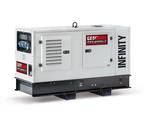 Дизельный генератор GENMAC Infinity RG10PS в кожухе