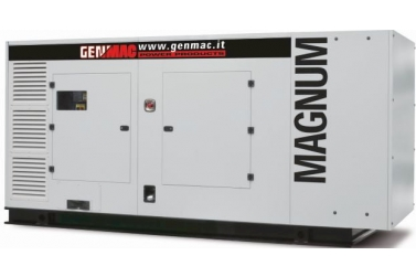 Дизельный генератор GENMAC Magnum G450SS в кожухе с АВР