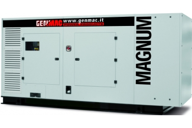 Дизельный генератор GENMAC G450PS в кожухе с АВР