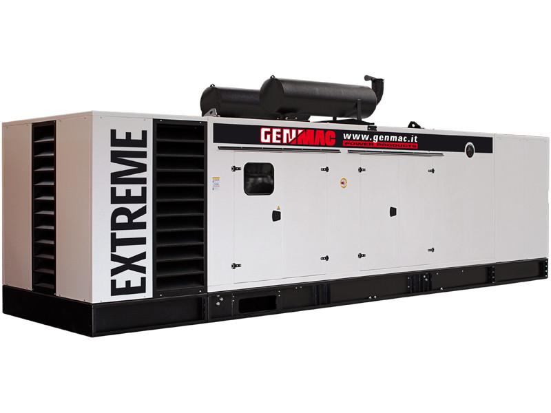 Дизельный генератор GENMAC G750PS в кожухе с АВР