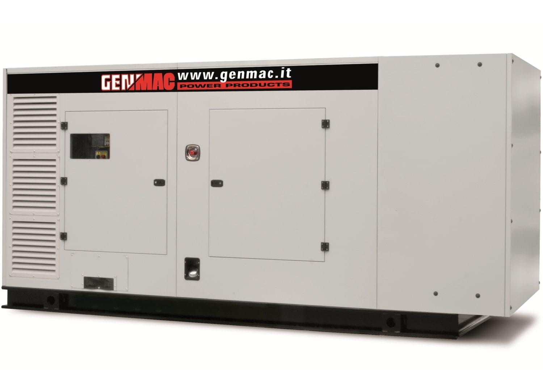 Дизельный генератор GENMAC G350PS в кожухе с АВР
