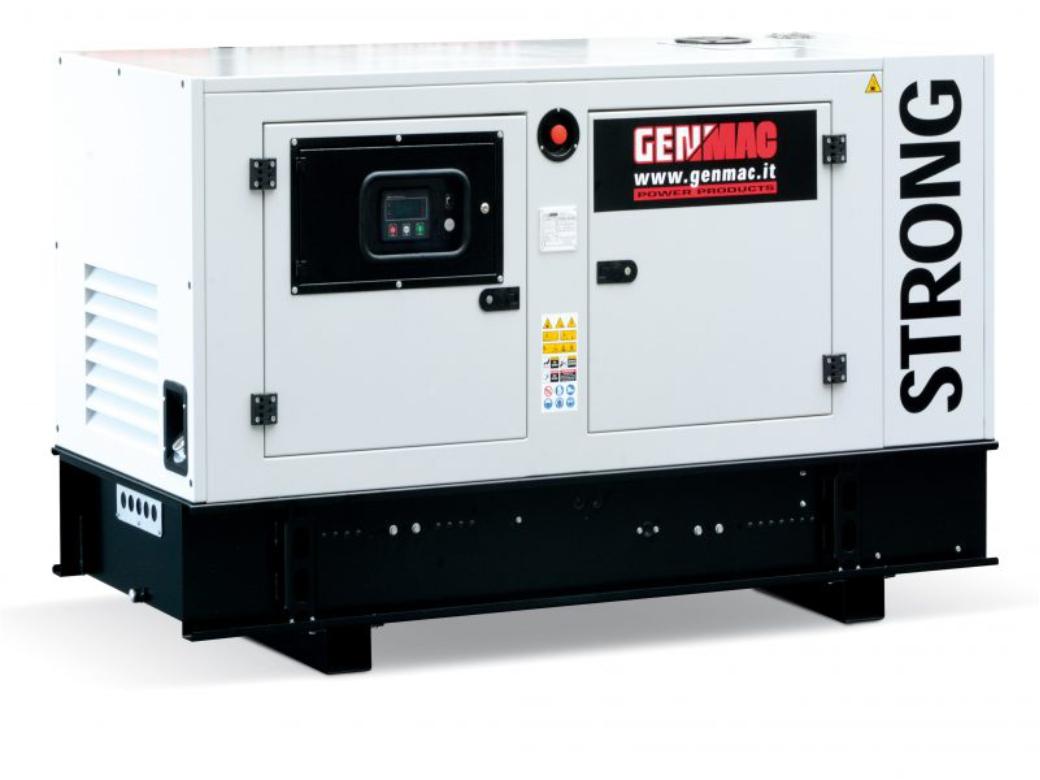 Дизельный генератор GENMAC G30JS в кожухе с АВР