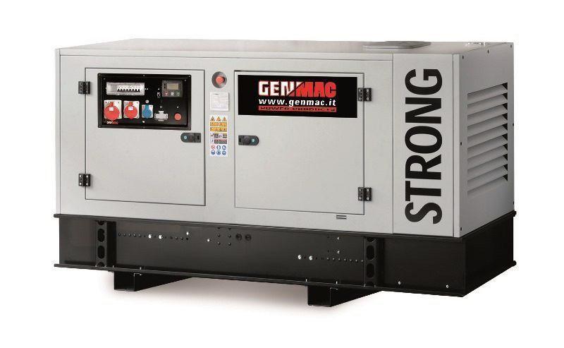 Дизельный генератор GENMAC Strong G30IS в кожухе с АВР