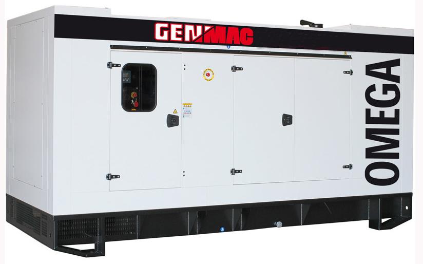 Дизельный генератор GENMAC G650PS в кожухе с АВР