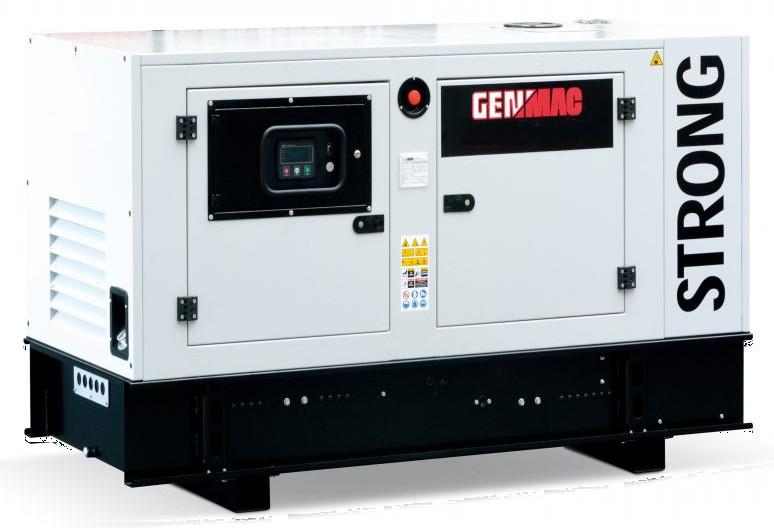 Дизельный генератор GENMAC G40JS в кожухе с АВР
