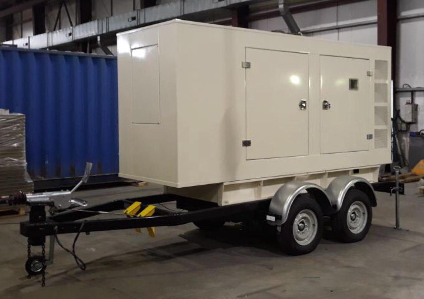 Дизельный генератор IVECO АД-320С-Т400 в кожухе с АВР на шасси