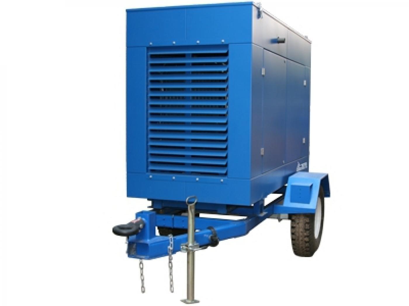 Дизельный генератор IVECO АД-64С-Т400 в кожухе на шасси