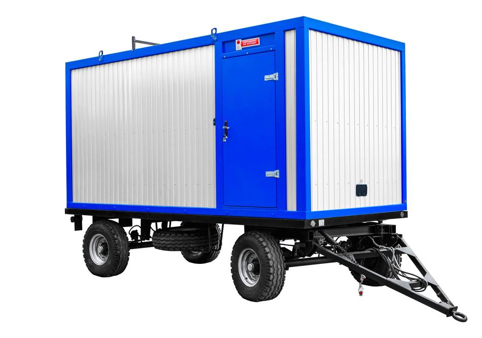 Дизельный генератор IVECO АД-480С-Т400 в контейнере с АВР на шасси
